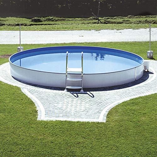 Steinbach Styriapool Stahlwandpool 10400 weiss Ø 350 x 120 cm
