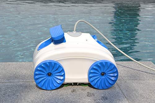 WelaSol Automatischer Poolreiniger für Kleine Pools bis 1,20m hoch | Poolroboter | Poolsauger | Saugroboter
